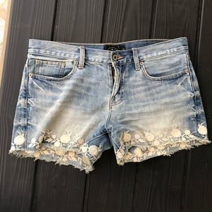 The Cutoff Embroidered Lucky Brand Jean Shorts